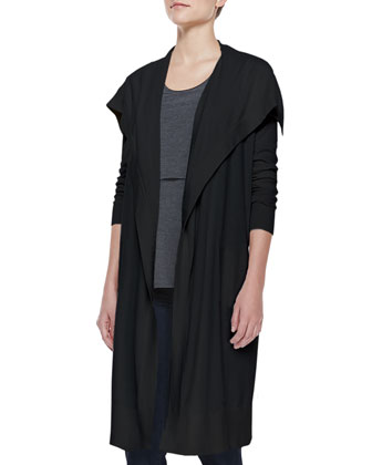 Riviera Casterley Drape Cardigan and Lumpkin Tiered Knit Top