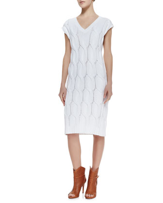 Yima Kelt Knit Cap-Sleeves Dress