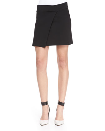 Ascher Studded Sleeveless Silk Top & Pike Asymmetric Faux-Wrap Skirt