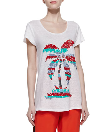 Island Time Sequined Slub Tee