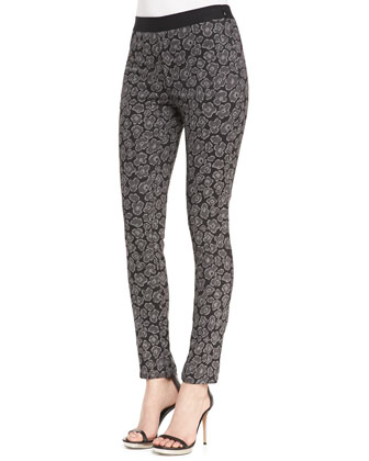 Heather Skinny Jacquard Pants