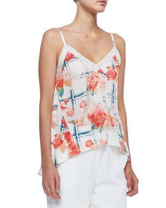 Dali Floral-Print Sleeveless Top