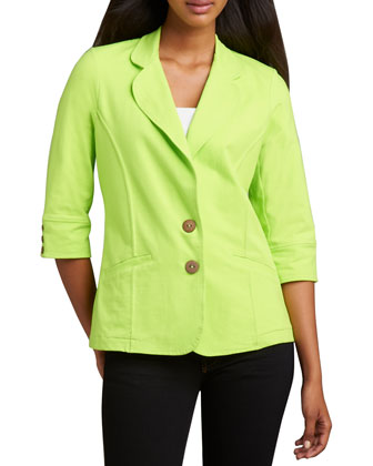 Urban Knit Two-Button Blazer