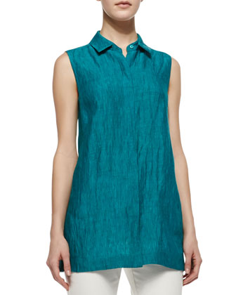 Senara Sleeveless Linen Blouse