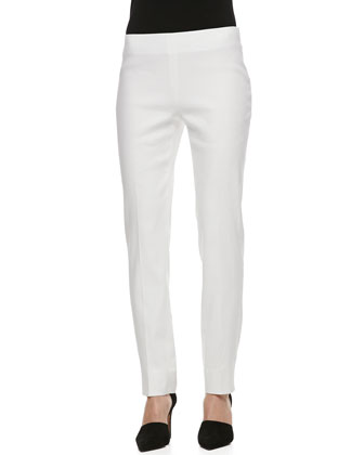 Stanton Korfu Linen Pants, White