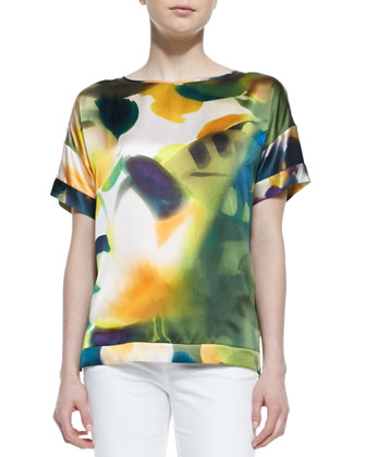 Camira Short-Sleeve Printed Top
