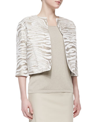 Amity Metallic Jacquard Cropped Jacket