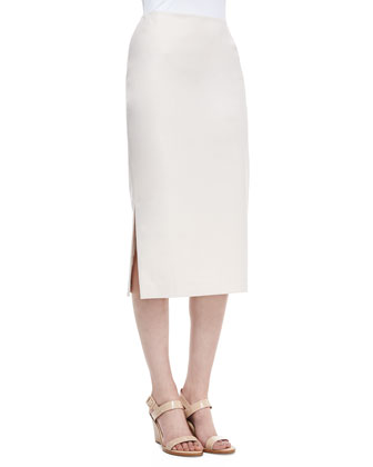 Dayna Over-the-Knee Pencil Skirt, Raffia