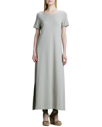 Long Cotton A-line Dress, Women's