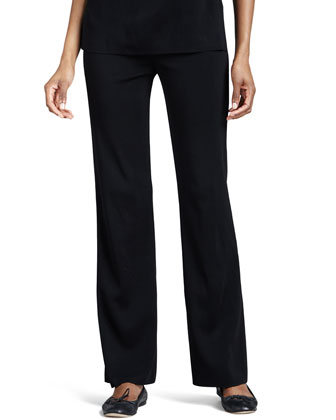 Casey Boot-Cut Pants, Black, Women's