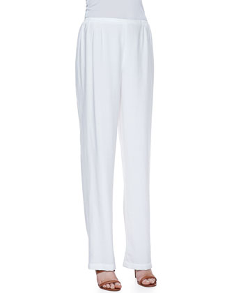 Cabo Knit Straight-Leg Pants, Petite