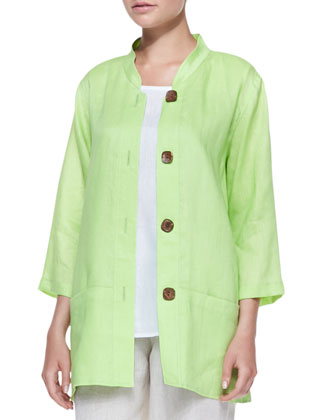 Tissue Linen Big Shirt, Women's