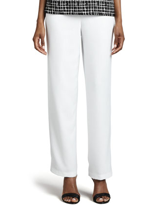Travel Straight-Leg Linen Pants