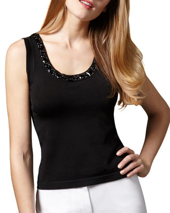 Bead-Trim Tank, Women's