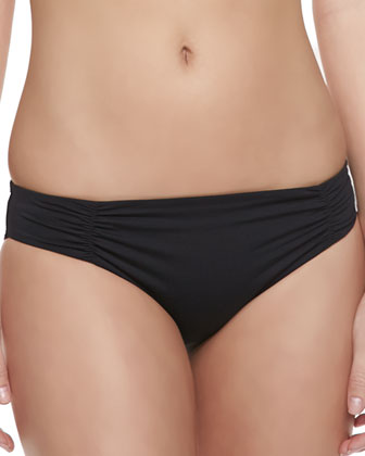 Monique Ruch-Side Swim Bottom, Black