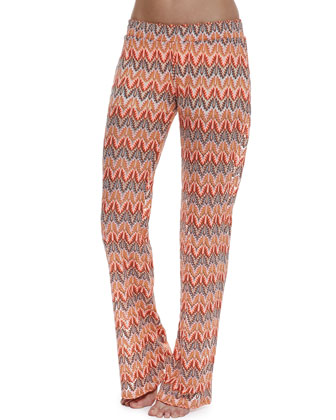 Sunchaser Printed Jersey Coverup Pants