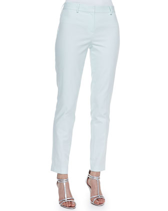 Raquel Slim-Fit Pants, Soft Sky