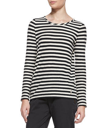 Pam Striped Long-Sleeve Tee
