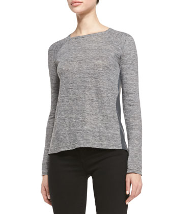 Carmen Long-Sleeve Slub Tee