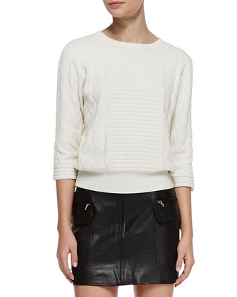 Lucinda Mix-Texture Knit Sweater