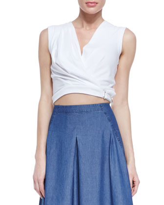 Knit Draped Belt Top