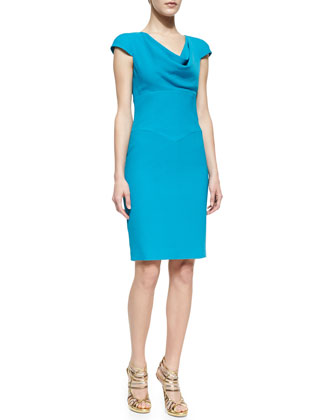 Gretchen Crepe Cowl-Neck Dress