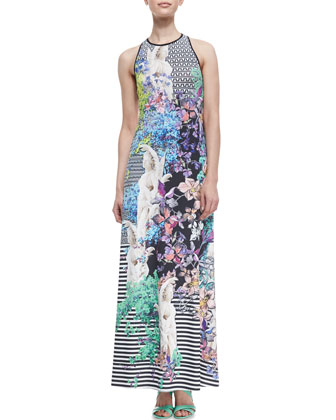 Enchanted Garden Printed Maxi Dress