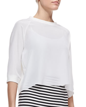 Silk 3/4-Sleeve Sweatshirt