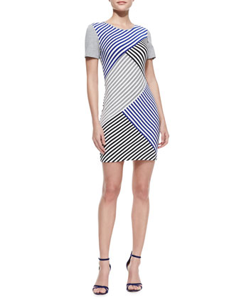 Racetrack Striped Bandage Dress