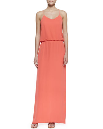 Spaghetti Strap Washed Matte Dress, Grenadine