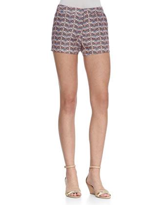 Merci Printed Flax Shorts