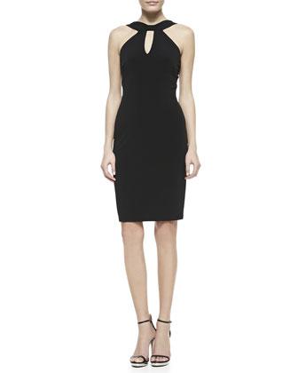 Halter Keyhole Dress, Black