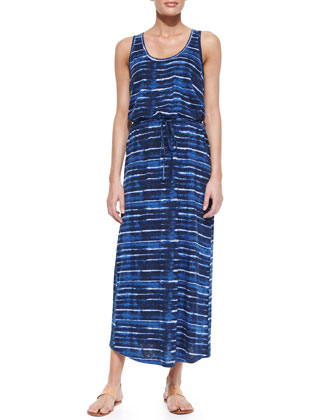 Dimzni Striped Drawstring Maxi Dress