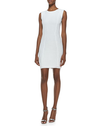 Grid Stitch Techno Sleeveless Dress