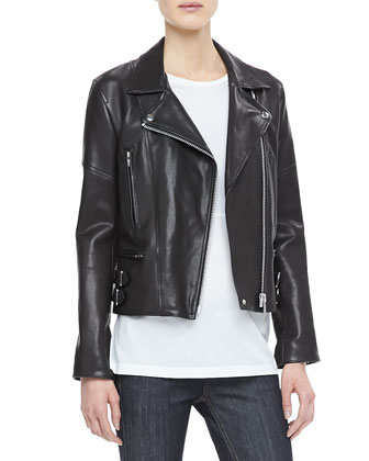 Joan Leather Biker Jacket