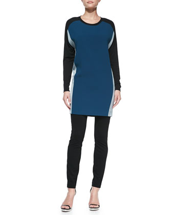 Colorblock Matte Jersey Dress