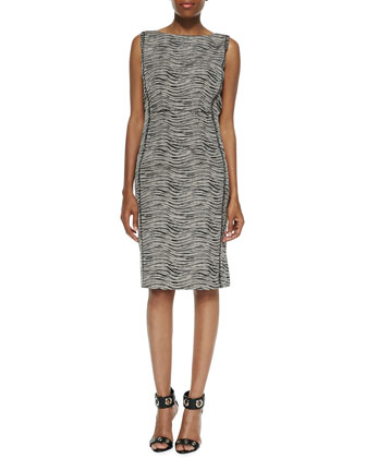 Viola Sleeveless Printed Sheath Dress