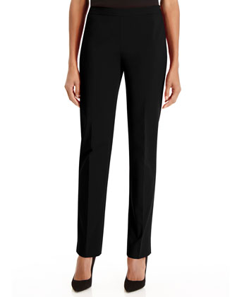 Bleecker Cotton-Blend Pants, Black