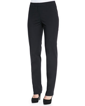 Stanton Cotton-Stretch Pants, Black