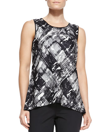 Lucy Jersey Printed Sleeveless Top & Stanton Cotton-Stretch Pants