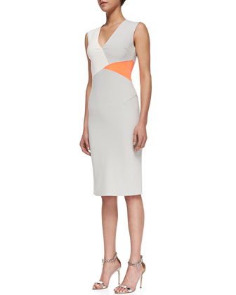 Sofia Colorblock Crepe Dress