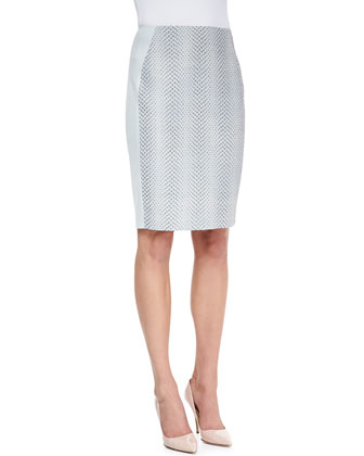 Kelsa Snake Jacquard Pencil Skirt