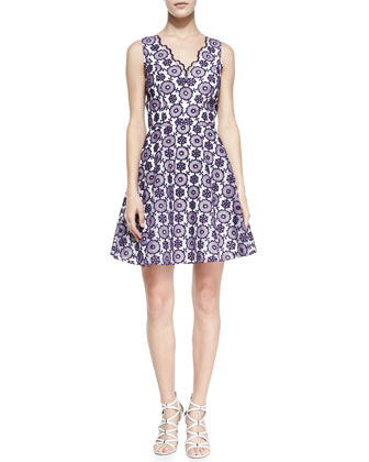 Sally Sleeveless Lace Cocktail Dress