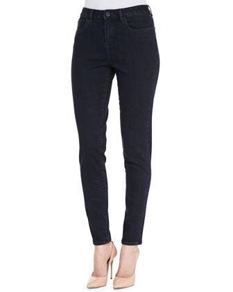 Azella Cropped Skinny Jeans, Dark Wash