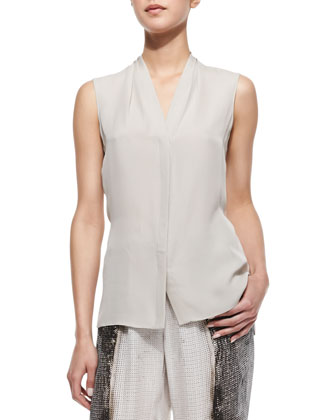 Katie Sleeveless Moto-Style Faux-Leather Vest, Hayden Sleeveless ...