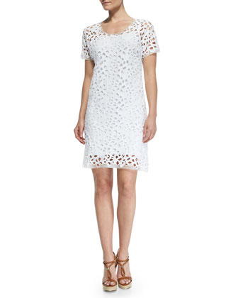 Maissa Short-Sleeve Bramble Lace Dress