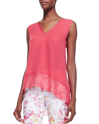 Jessa Sleeveless V-Neck Asymmetric Blouse