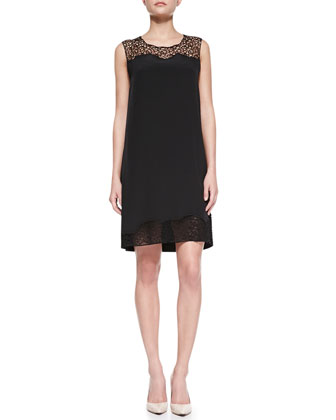 Suellan Sleeveless Web-Lace Dress