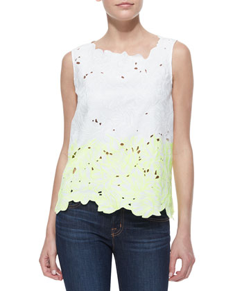 Roony Outlined Cotton Lace Top