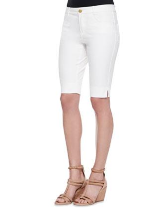 Twill Bermuda Shorts, White